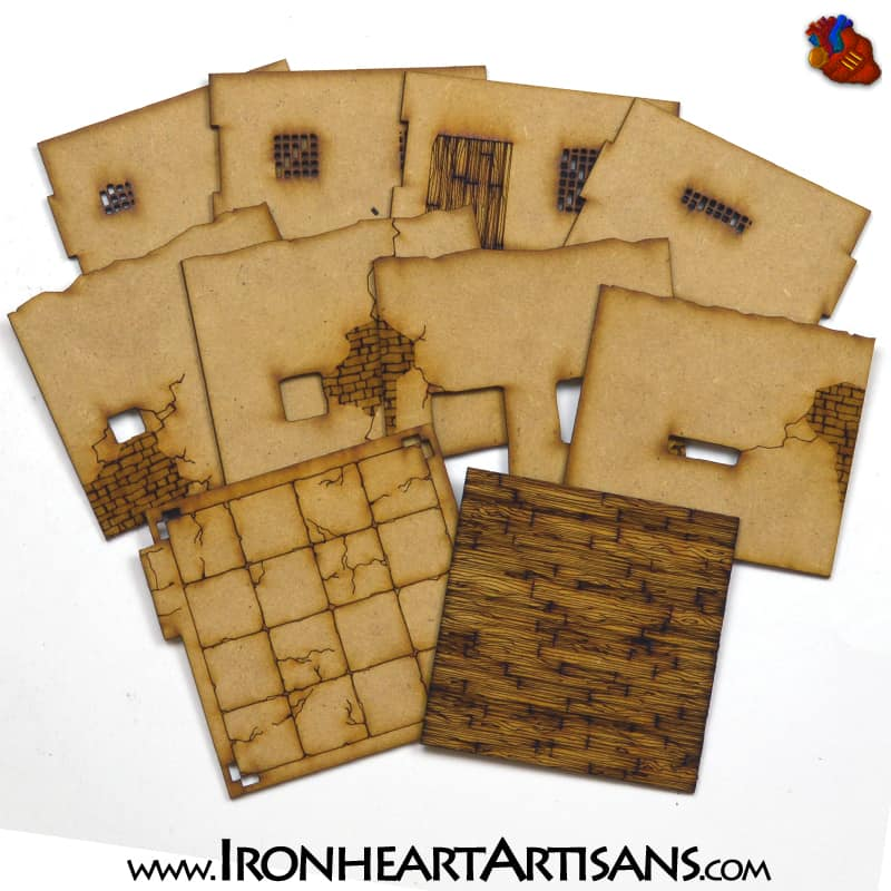 Al Arafa Adobe 28mm Scale North African Terrain Kit