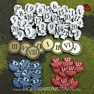 Full color acrylic tokens set