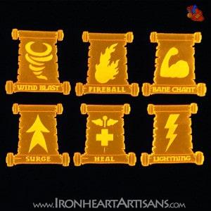 Kings of War Acrylic Spell Token Set